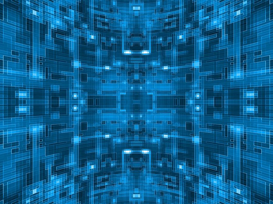 Blue Circuit Board Wallpaper.Abstract Blue Spherical Tile Circuit ...