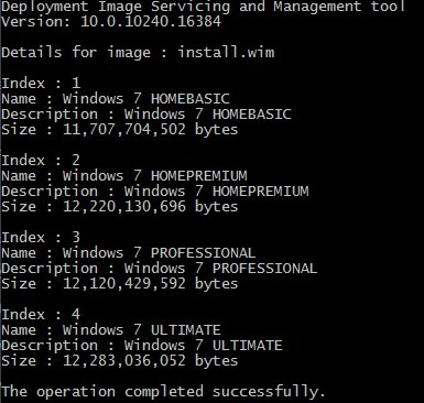 install.wim Indexes