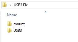 Screenshot of two folders